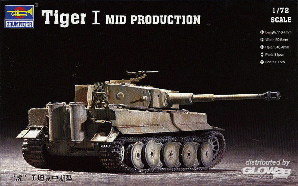 Trumpeter 07243 Tiger 1 Tank (Mid.) in 1:72