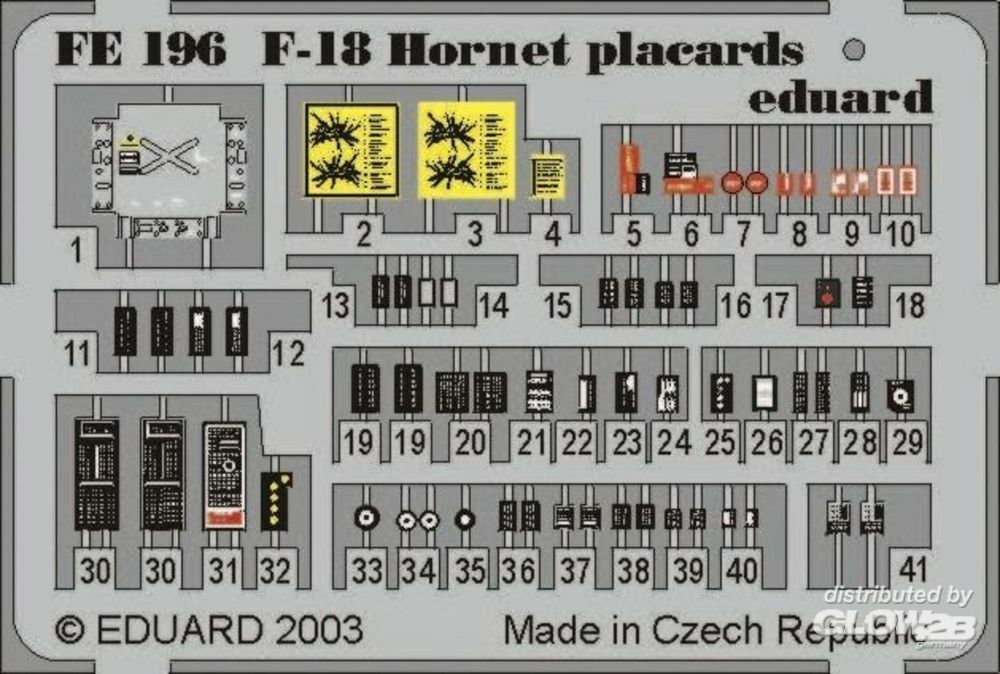 Eduard Accessories FE196 F-18 Hornet placards in 1:48