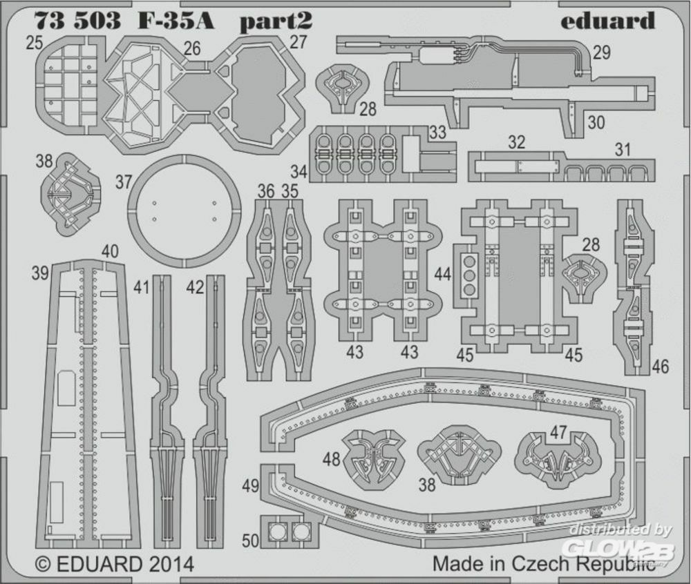 Eduard Accessories 73503 F-35A S.A: for Academy in 1:72