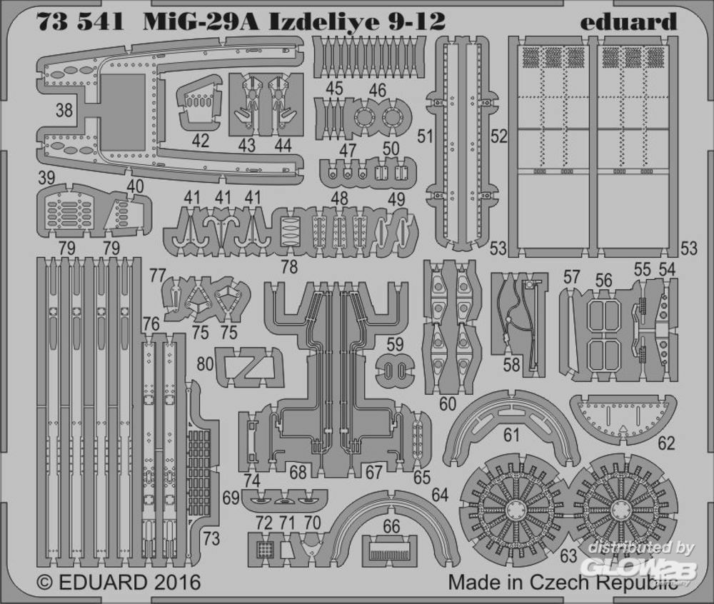 Eduard Accessories 73541 MiG-29A Izdeliye 9-12 for Trumpeter in 1:72