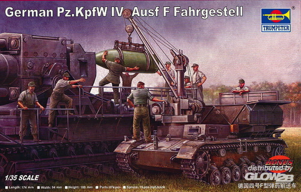 Trumpeter 00363 German Pz.Kpfw IV Ausf F Fahrgestell in 1:35