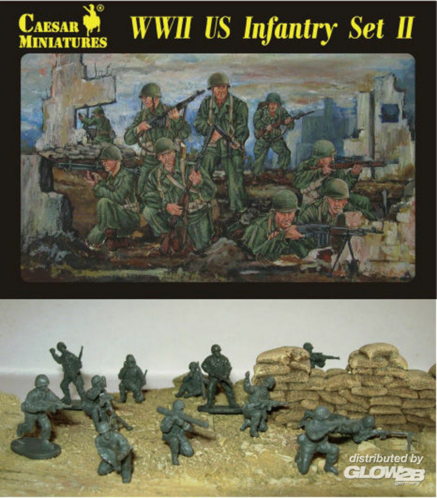 Caesar Miniatures H071 WWII US Infantry Set II in 1:72