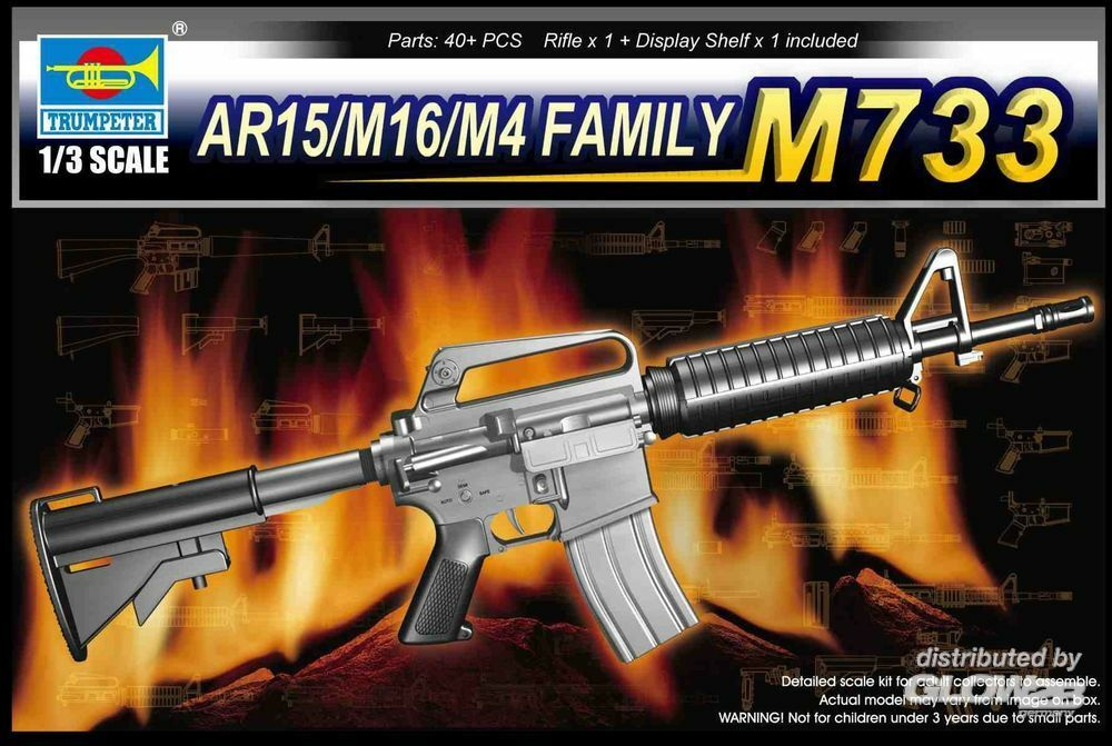 Trumpeter 01906 AR15/M16/M4 Family-M733 in 1:3