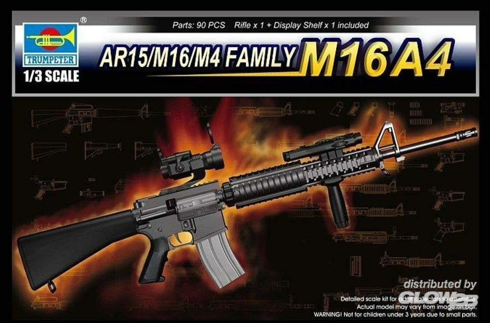Trumpeter 01915 AR15/M16/M4 FAMILY-M16A4 in 1:3