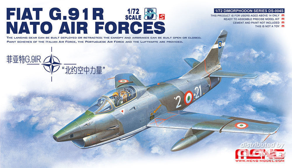 MENG-Model DS-004s Fiat G.91R NATO Air Forces in 1:72