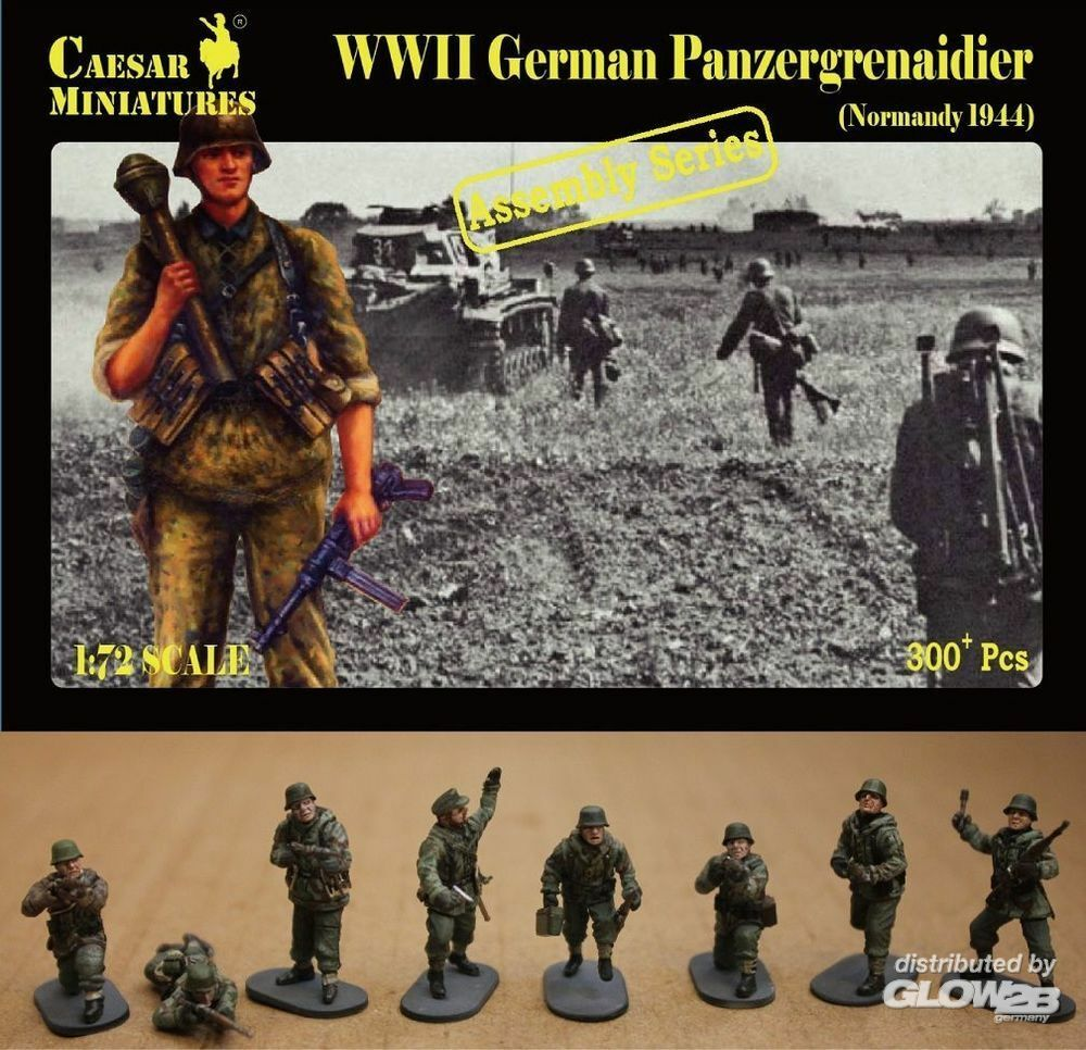 Caesar Miniatures CM7716 German Panzergrenaidier(Normandy 1944) in 1:72