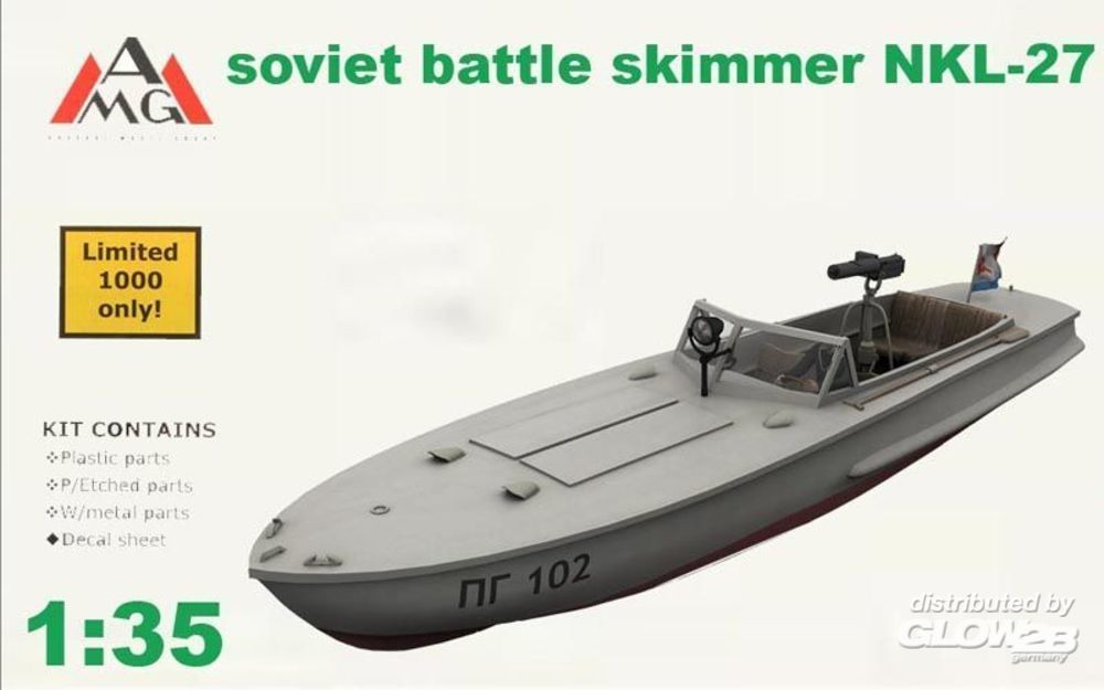 AMG AMG35402 NKL-27 armed speed boat WWII in 1:35
