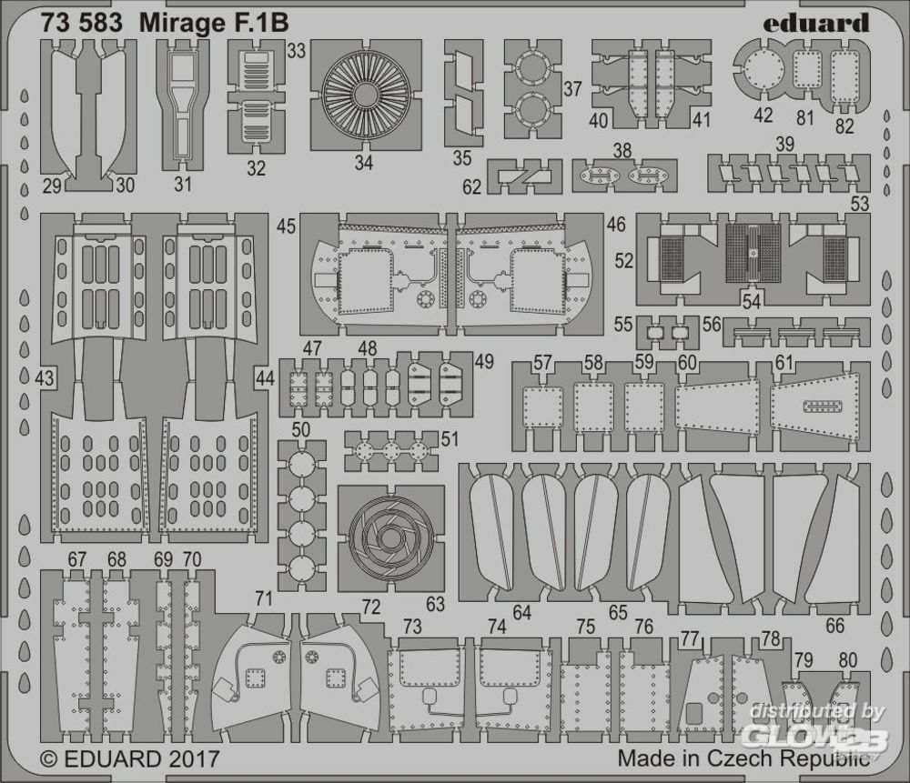 Eduard Accessories 73583 Mirage F.1B for Special Hobby in 1:72