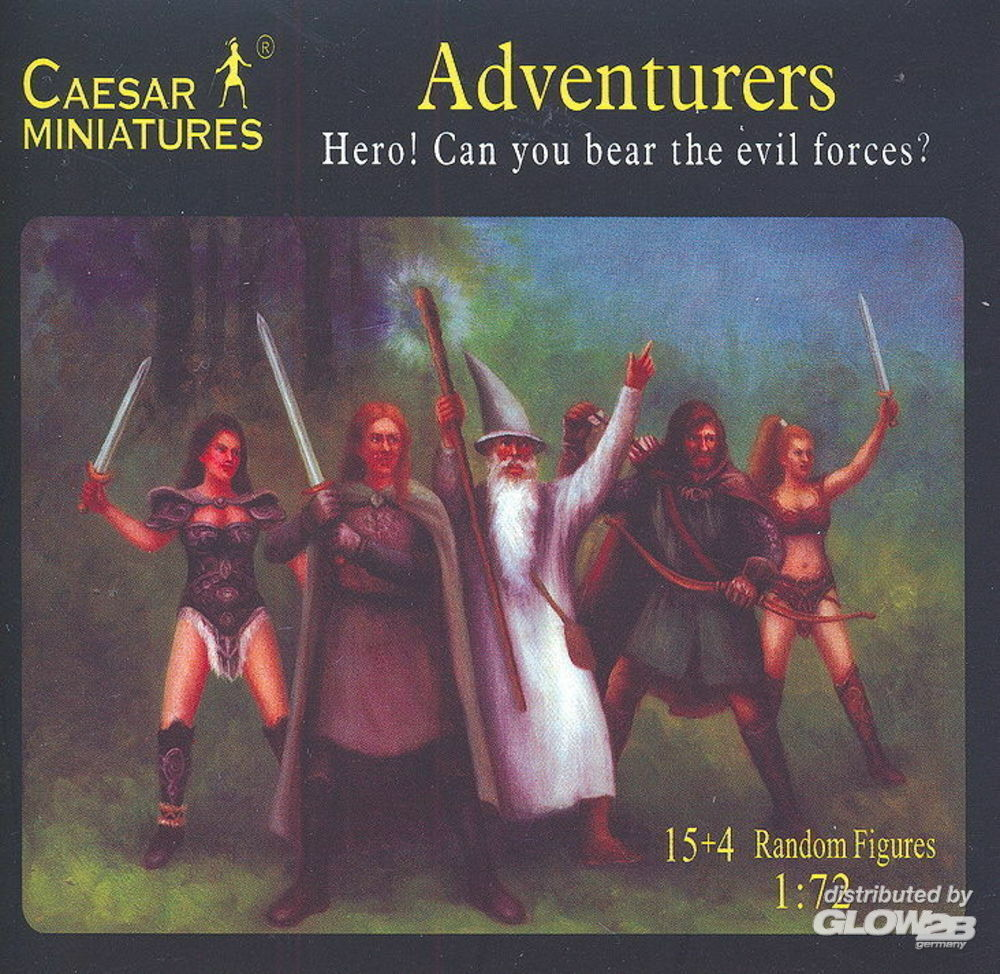 Caesar Miniatures F104 Adventurers Hero! Can you bear the evil forces? in 1:72