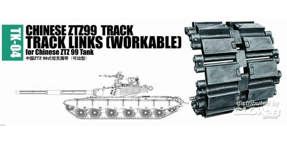 Trumpeter 02034 Chinese ZTZ99 track for Chinese ZTZ99 tank