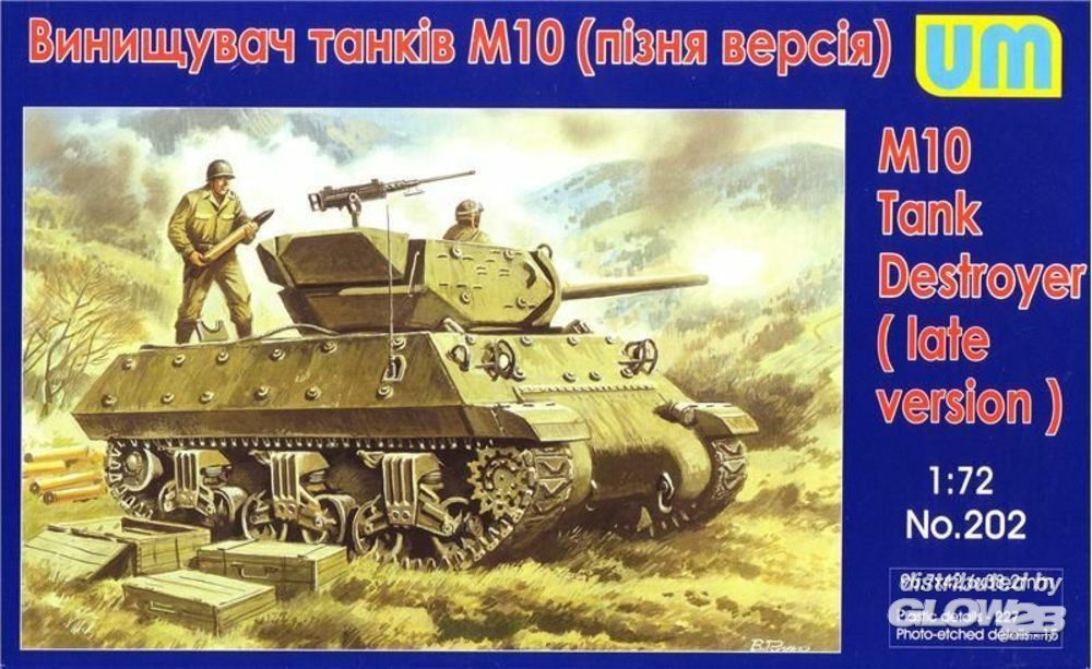 Unimodels UM202 M10 tank destroyer, late in 1:72