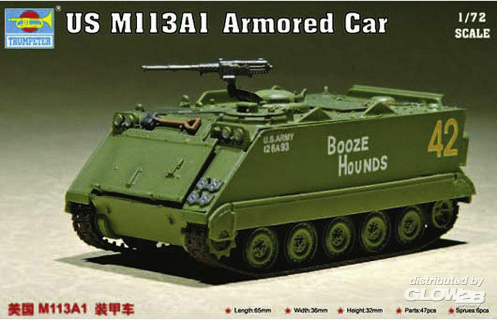 Trumpeter 07238 US M 113 A1 Armored Car in 1:72