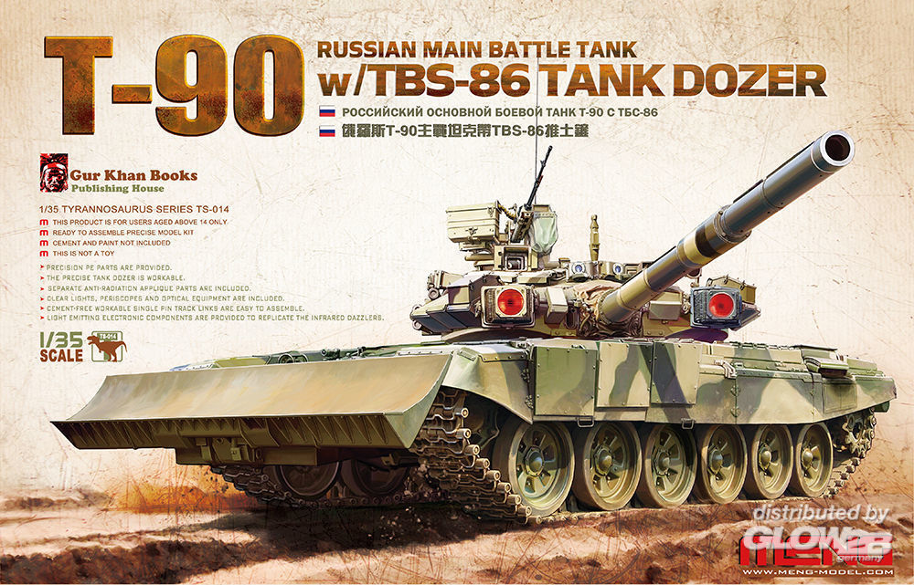MENG-Model TS-014 Russian Main Battle Tank T-90 w/TBS-86 in 1:35