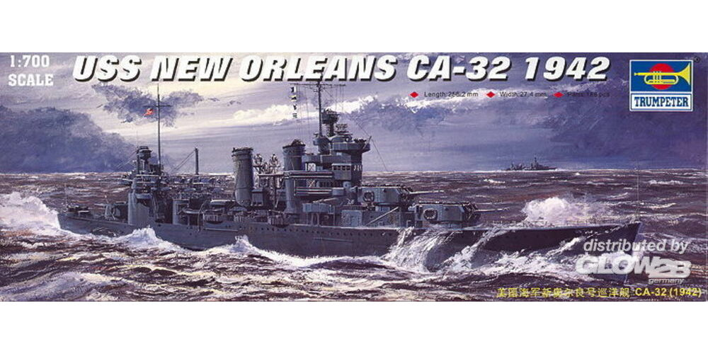 Trumpeter 05742 USS New Orleans CA-32 (1942) in 1:700