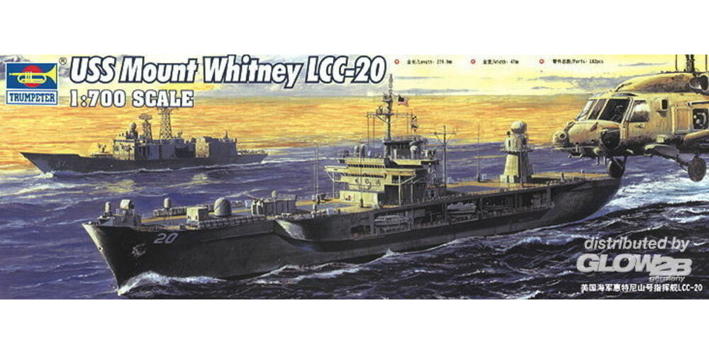 Trumpeter 05718 USS Mount Whitney LCC-20 2004 in 1:700