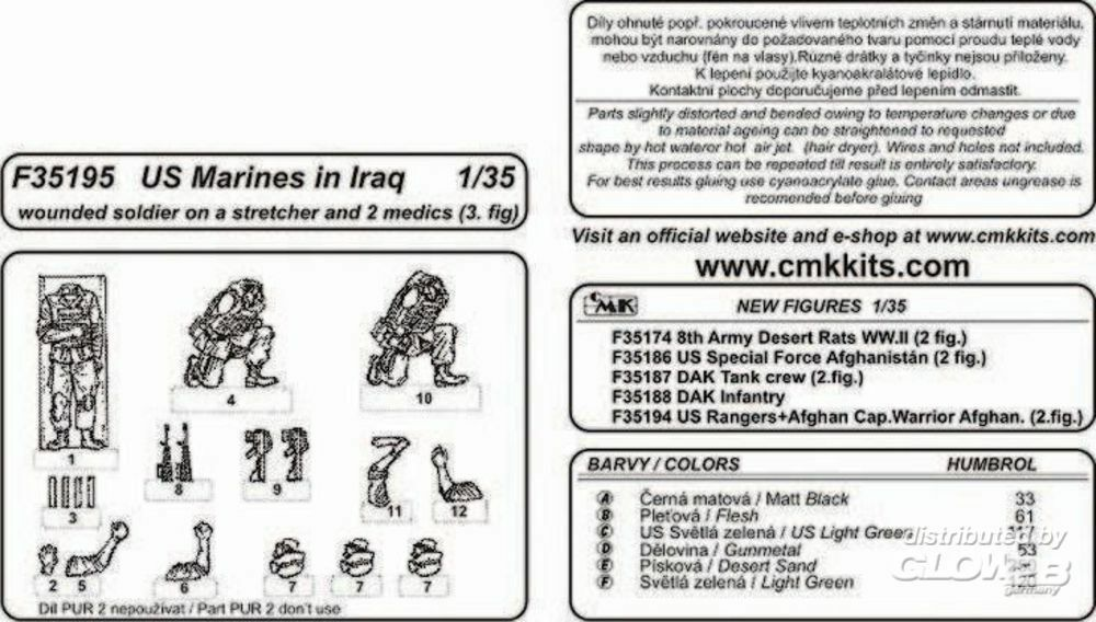 CMK 129-F35195 US Marines in Iraq wounded soldier and 2 medics