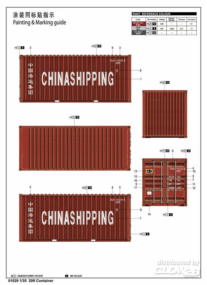 Trumpeter 01029 20ft Container in 1:35