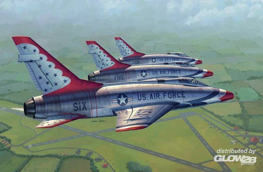 Trumpeter 02822 F-100D in Thunderbirds livery in 1:48