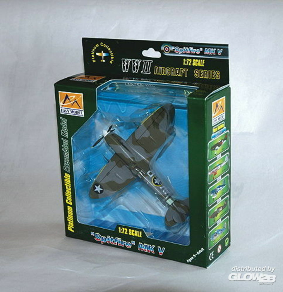 Easy Model 37215 Supermarine Spitfire Mk V USAF 4FG 355FS in 1:72