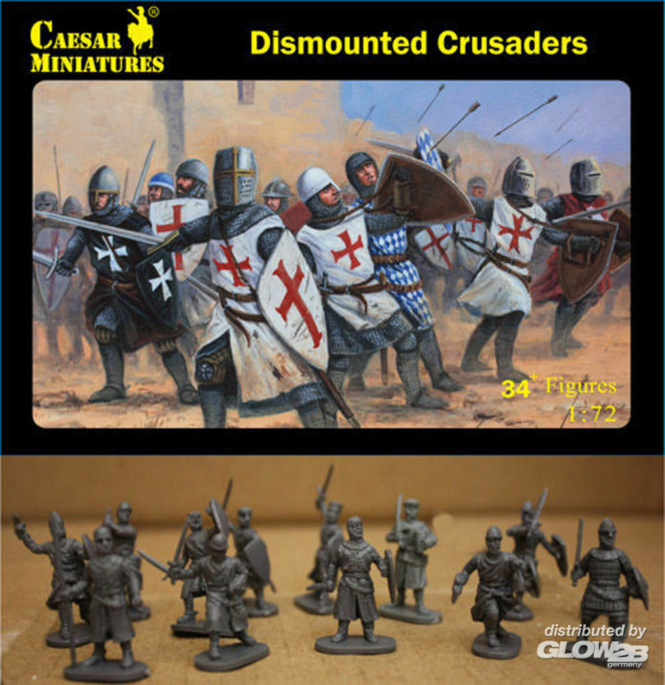 Caesar Miniatures H086 Dismounted Crusaders in 1:72