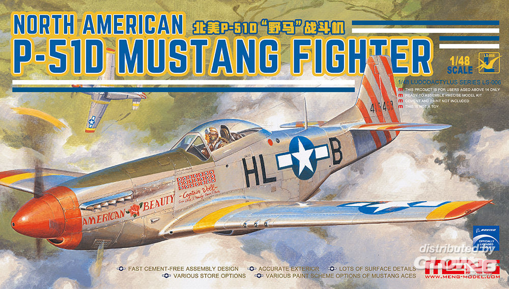 MENG-Model LS-006 North American P-51D Mustang Fighter in 1:48