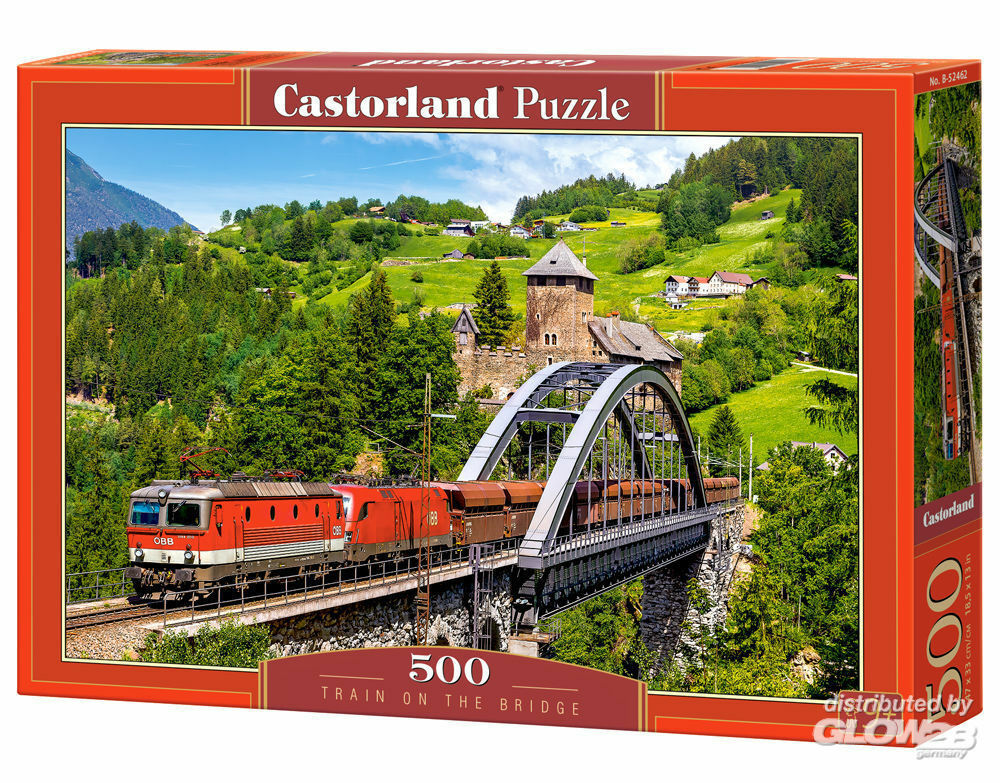 Castorland B-52462 Train on the Bridge,Puzzle 500 Teile