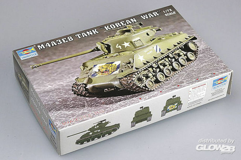 Trumpeter 07229 M4A3E8 Tank (T80 Track) in 1:72