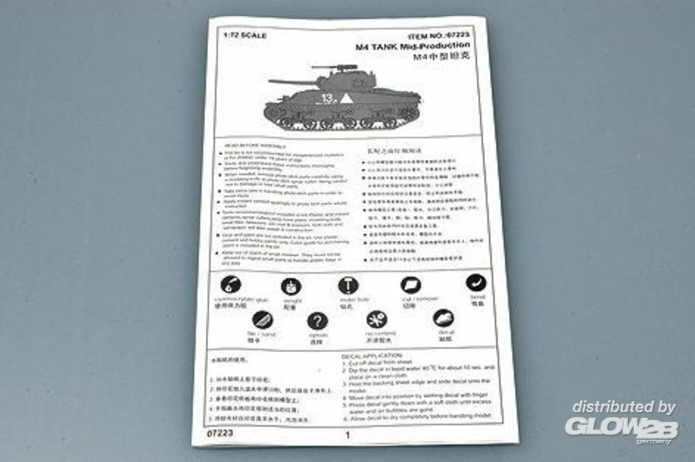 Trumpeter 07223 M4 (Mid) Tank in 1:72