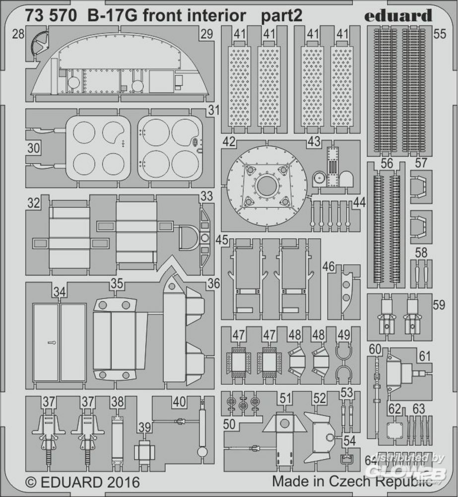 Eduard Accessories 73570 B-17G front interior for Airfix in 1:72