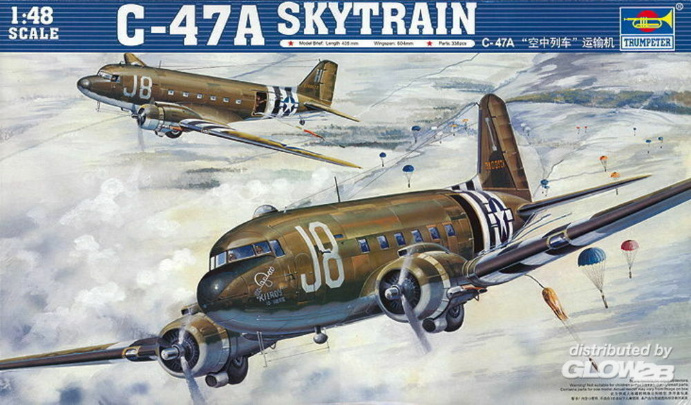 Trumpeter 02828 C-47A Skytrain in 1:48