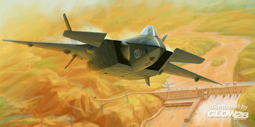 Trumpeter 01665 Chinese J-20 Mighty Dragon (Prototype No.2011) in 1:72