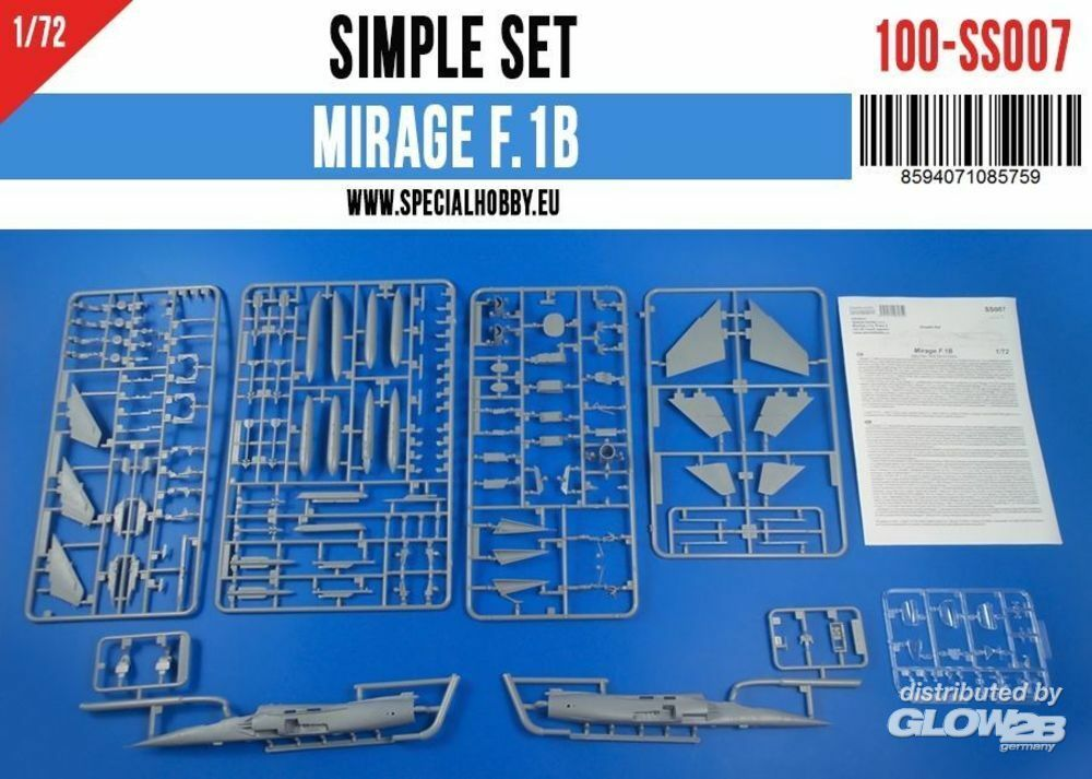 Special Hobby 100-SS007 Mirage F.1B Simple Set in 1:72