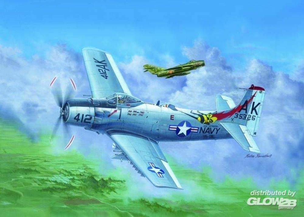 Trumpeter 02253 A-1H AD-6 Skyraider in 1:32