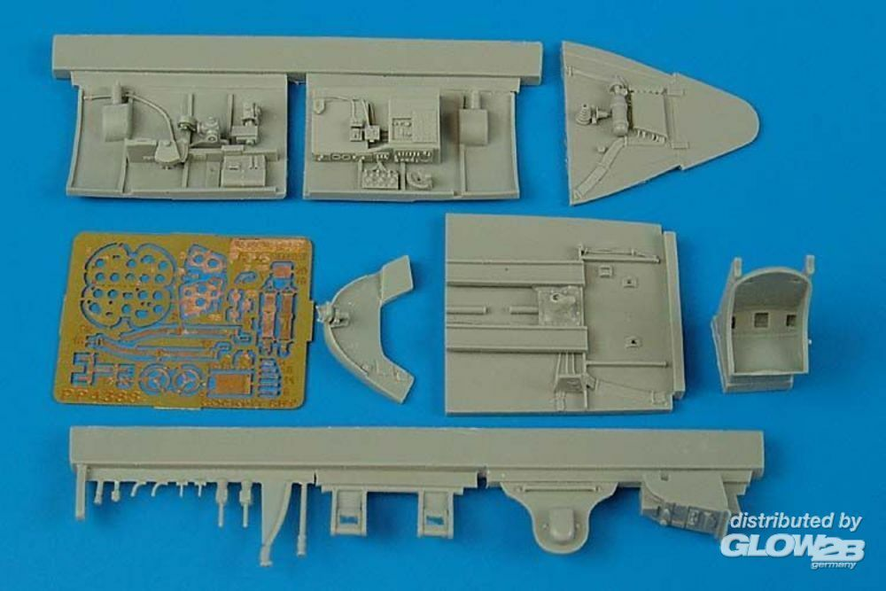 Aires 4388 F6F-5 Hellcat cockpit set for Hasegawa kit in 1:48
