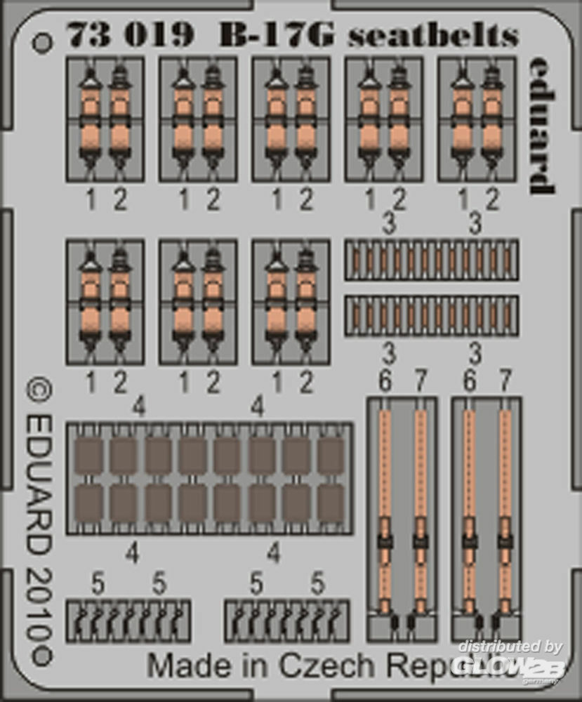 Eduard Accessories 73019 B-17G seatbelts for Revell in 1:72