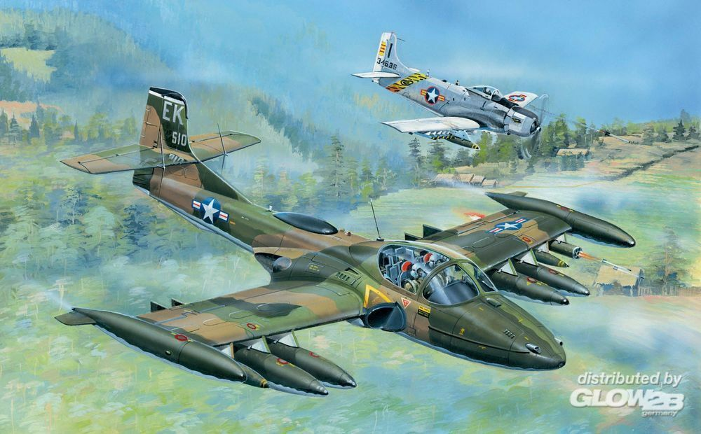 Trumpeter 02888 US A-37A Dragonfly Light Ground-Attack in 1:48
