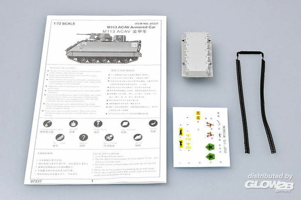 Trumpeter 07237 US M 113 ACAV Armored Car in 1:72