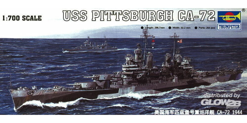 Trumpeter 05726 USS Pittsburgh CA-72 1944 in 1:700
