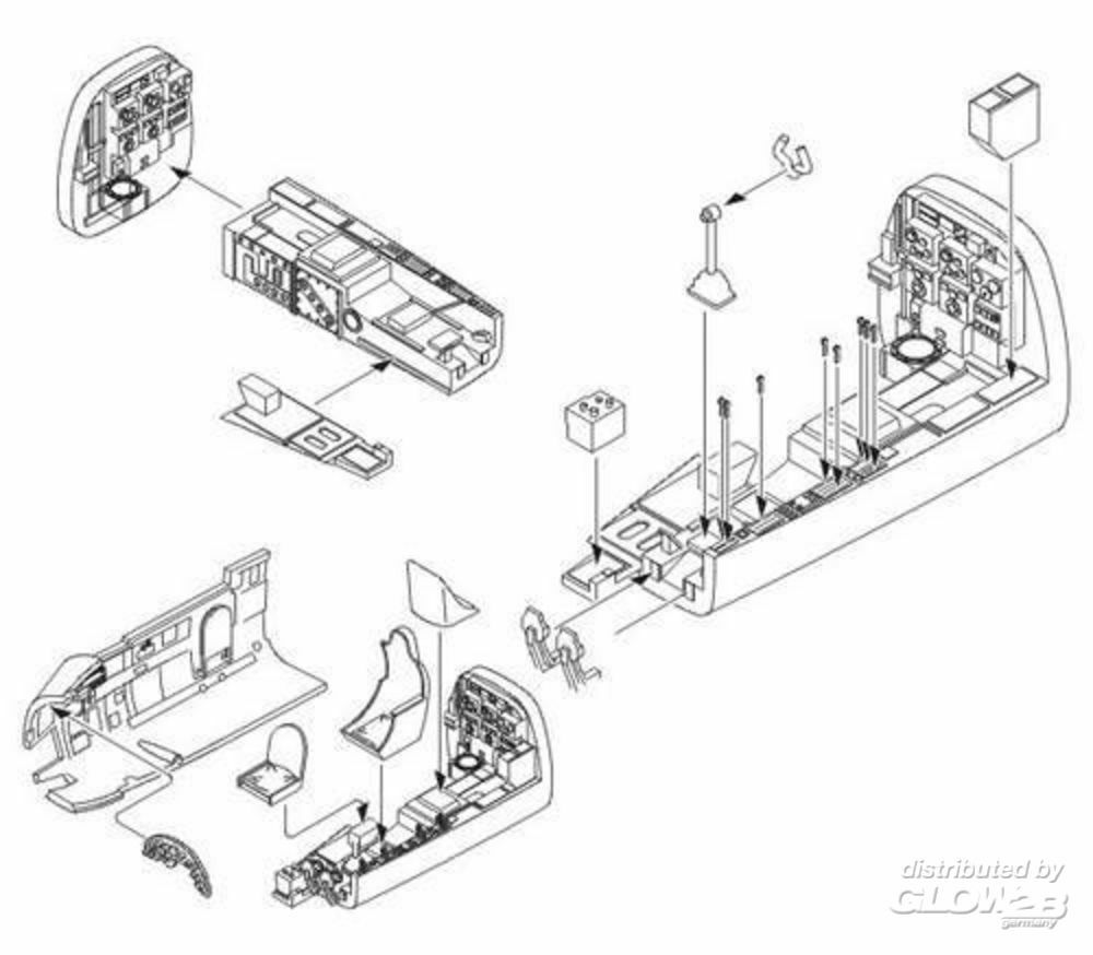 CMK 129-5026 Junkers Ju 88A interior set for Revell in 1:32
