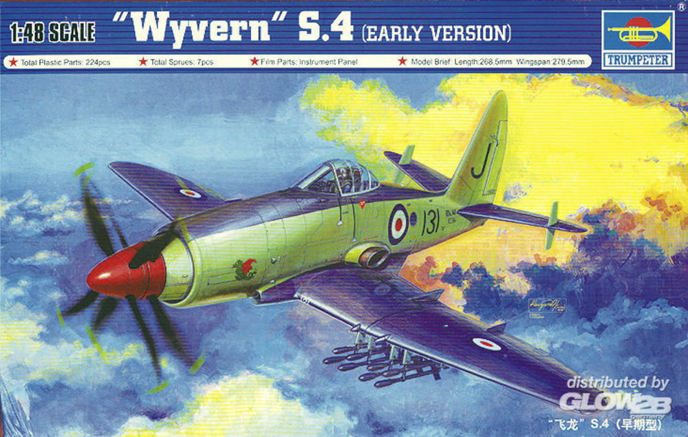 Trumpeter 02843 Wyvern S.4 Early Version in 1:48