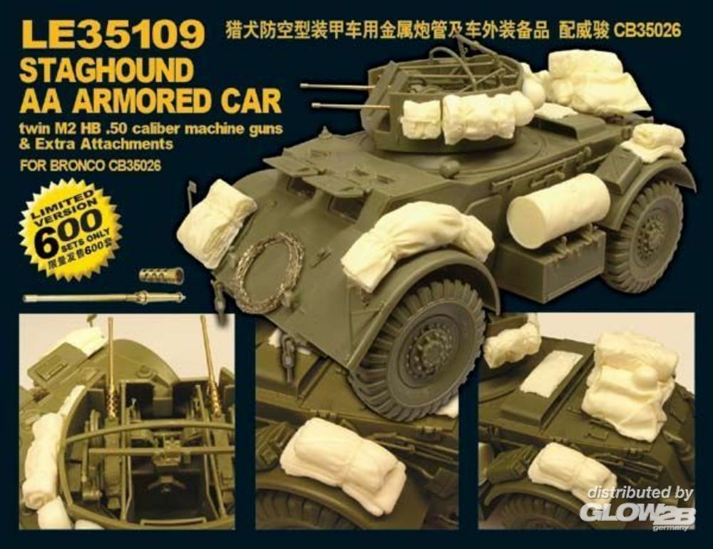 Lion Roar-GreatwallHobby LE35109 WWII U.S.Army Staghound AA Armored Car Limited Edition! in 1:35