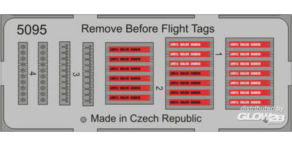 CMK 129-5095 Remove Before Flight Tags (20pcs) in 1:32