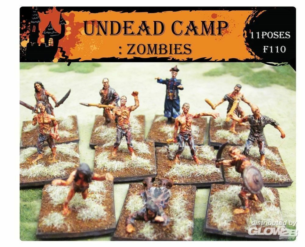 Caesar Miniatures F110 Undead Camp: Zombies in 1:72