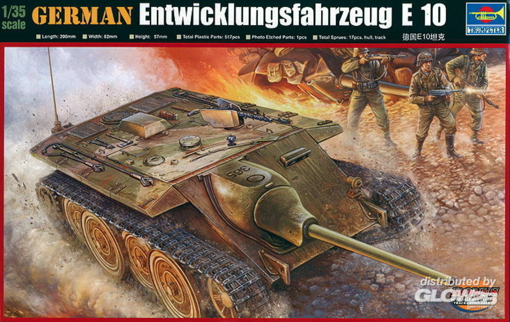 Trumpeter 00385 German E-10 Tank in 1:35