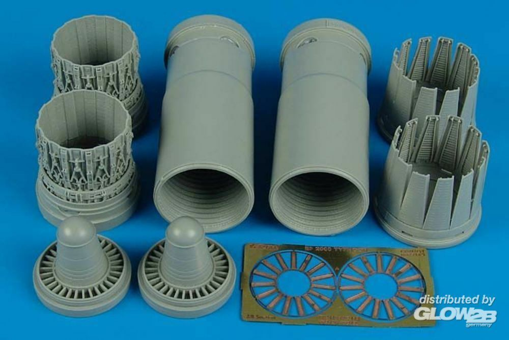 Aires 2125 EF 2000A early exhaust nozzles (REV) in 1:32