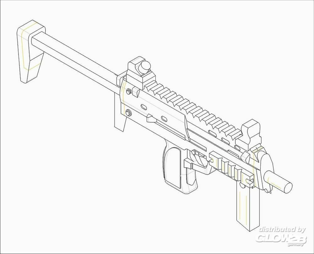 Trumpeter 00523 German Firearms Selection-MP7 (6 guns) in 1:35