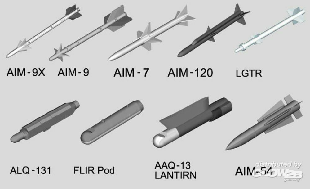 Trumpeter 03303 US aircraft weapon-Air-to-Air Missile in 1:32