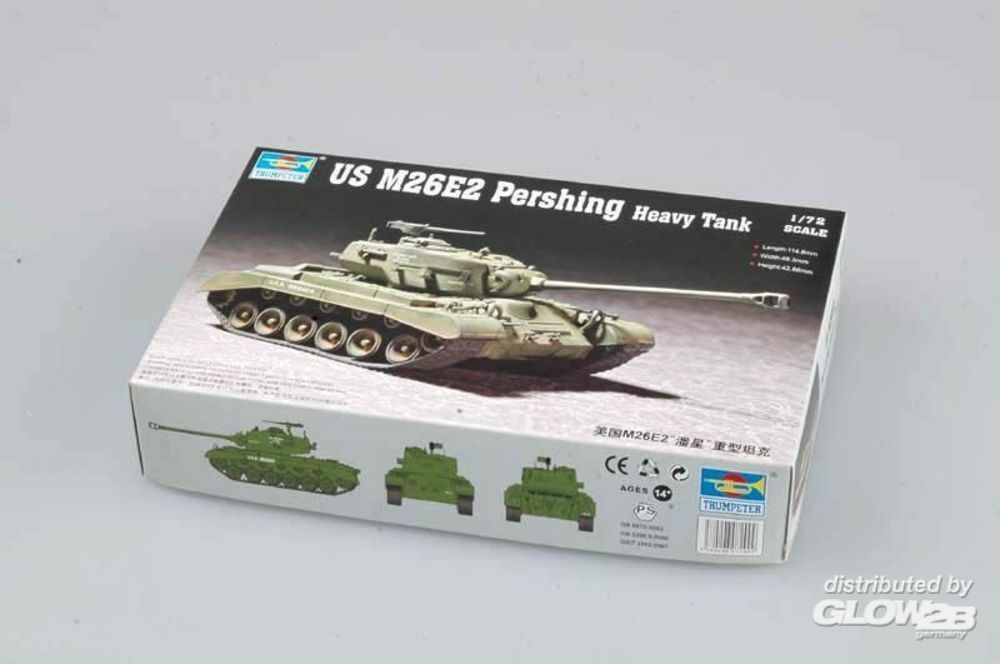 Trumpeter 07299 US M26E2 Pershing Heavy Tank in 1:72