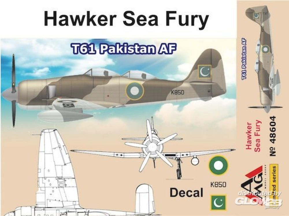 AMG AMG48604 Hawker Sea Fury T61 Pakistan AF in 1:48