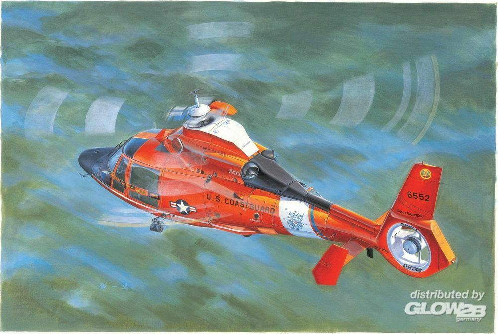 Trumpeter 05107 US Coast Guard HH-65C Dolphin Helicopter in 1:35
